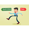 direction to success vector image vector image