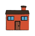 drawing home family chimney vector image