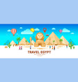 egypt travel people pyramid traditional vector image