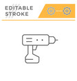 electric screwdriver line icon vector image