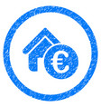 euro home rent rounded icon rubber stamp vector image vector image