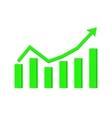 financial statistic indication arrow up rising vector image