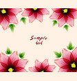 flower card sample text vector image vector image