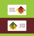 fruit fruity business card background and vector image vector image