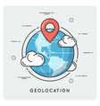 geolocation and navigation thin line concept vector image vector image