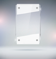 Glass Plate vector image vector image