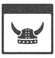 Horned Ancient Helmet Calendar Page Grainy Texture vector image vector image