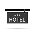 hotel signboard with three star vector image vector image