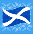 independence day of scotland 24 june flag of vector image vector image
