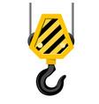 industrial hook - construction crane hook vector image