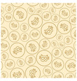 light beige seamless pattern with bitcoins vector image