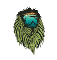 Lion with double exposure effect vector image vector image