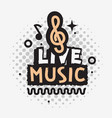 live music in the concert design with vector image vector image