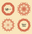 logo for henna studio vector image