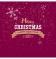 Merry Christmas golden typography vector image vector image