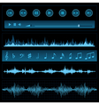 Notes and sound waves vector image vector image