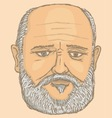 old man portrait vector image vector image