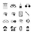 Ophthalmology Black White Icons Set