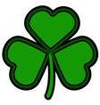 patrick day clover vector image