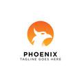 phoenix logo design inspiration vector image vector image