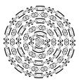 Round ornamental shape isolated on white vector image vector image