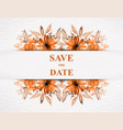 save date for personal holiday wedding vector image vector image