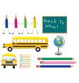 school symbols vector image vector image