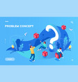 screen for problem solving or metaphor concept vector image