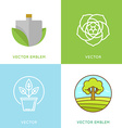 set of logo design templates - gardening concepts vector image vector image