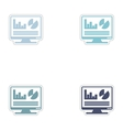 Set of paper stickers on white background economic vector image vector image