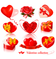 set of valentine day elements vector image