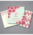 Set of valentines invitation cards vector image