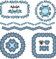 set round and oval frames and vintage design vector image vector image