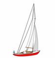 small sailboat vector image vector image
