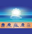 summer logo design set vector image