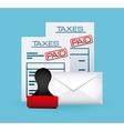 taxes concept vector image vector image
