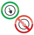 Touching permission signs vector image vector image