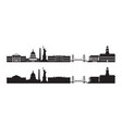 united states america usa skyline silhouette vector image vector image