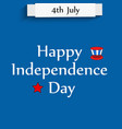 usa independence day 4th july vector image vector image