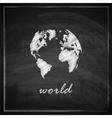vintage with world map on chalkboard vector image vector image