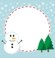 Winter christmas frame vector image vector image