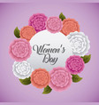 womens day card celebration party vector image