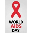 World AIDS Day poster vector image vector image