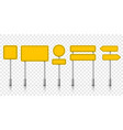 yellow street road sign boards roadsign alert vector image