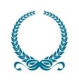 Laurel wreath with heraldic ribbons vector image