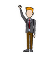 business man character campaing staff people vector image