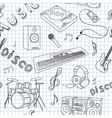 seamless music vector image