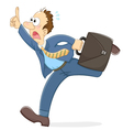 stressed running worker vector image