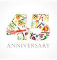 45 anniversary folk logo vector image vector image