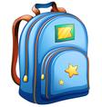 A blue school bag vector image vector image